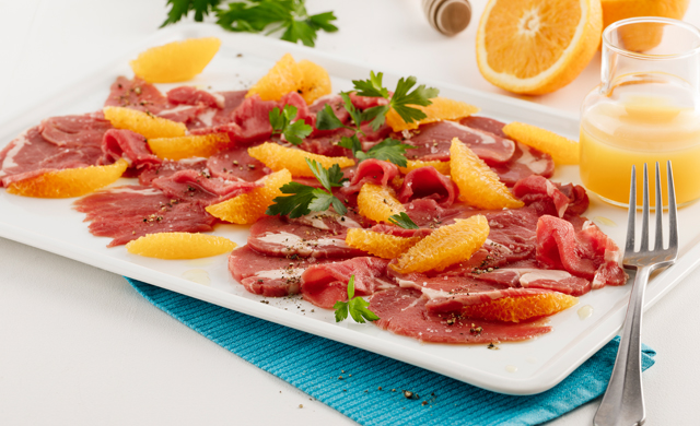 Carpaccio De Filet De Veau Du Quebec Orange Et Miel 198